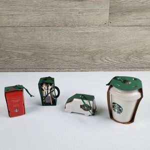 Starbucks 2016 Collection Ornaments Lot of 4